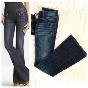 ReRock for Express 3-Button Dark Wash Flare Jeans